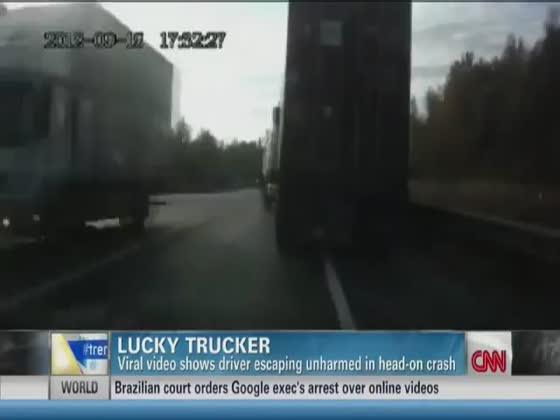 Trucker Thrown Through The Windshield