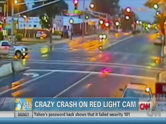 Car Gets Crazy Air After Running Red Light