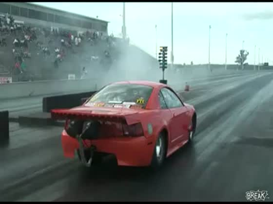 Mustang Destroyed In Drag Race Crash