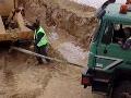 Greek Dump Truck Stuck at Golf Course Construction Site