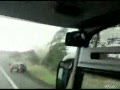 Tornado Hits Passenger Bus - View From Inside