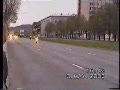 Police Car Takes Out Speeding Motorcycle