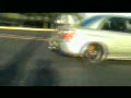 Ramping a Subaru STi in a Church Parking Lot