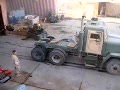 Military 18-Wheeler Burnout