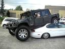 Hummer Stuck On Ford Taurus