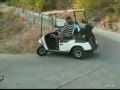 Woman Golf Cart Driver