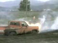 427 Powered Chevy Shortbed - Bursts Into Flames