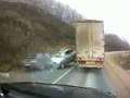 Passing 18-Wheeler In a Turn