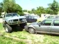Crushing a Car with a 1968 Pontiac Firebird