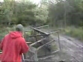 Awesome Jumping of an Old Trash Truck